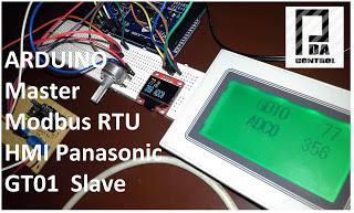 Pruebas Modbus RTU Maestro con Arduino via RS232 y Pantalla Panasonic GT01
