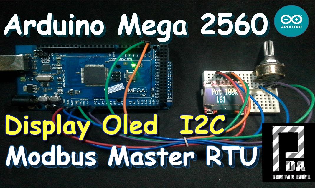 Arduino Mega 2560 Display Oled I2C Modbus Maestro RTU Conexion Scada Industrial