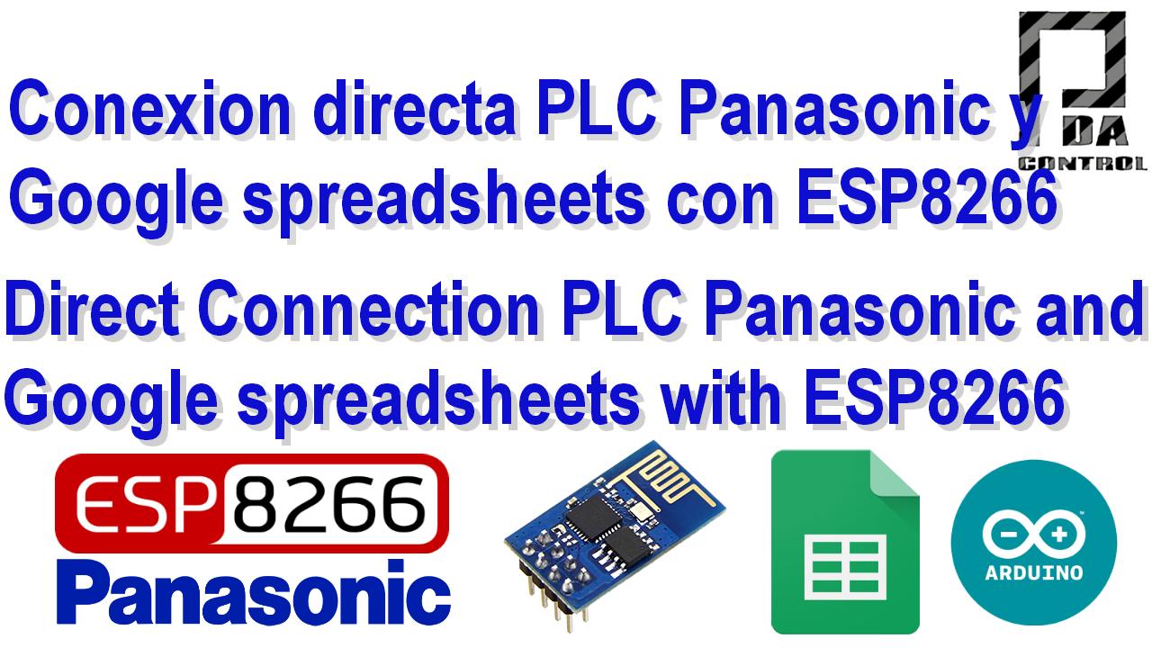 Conexion PLC Fpx C14 Panasonic y Google spreadsheets (Google docs) con ESP8266