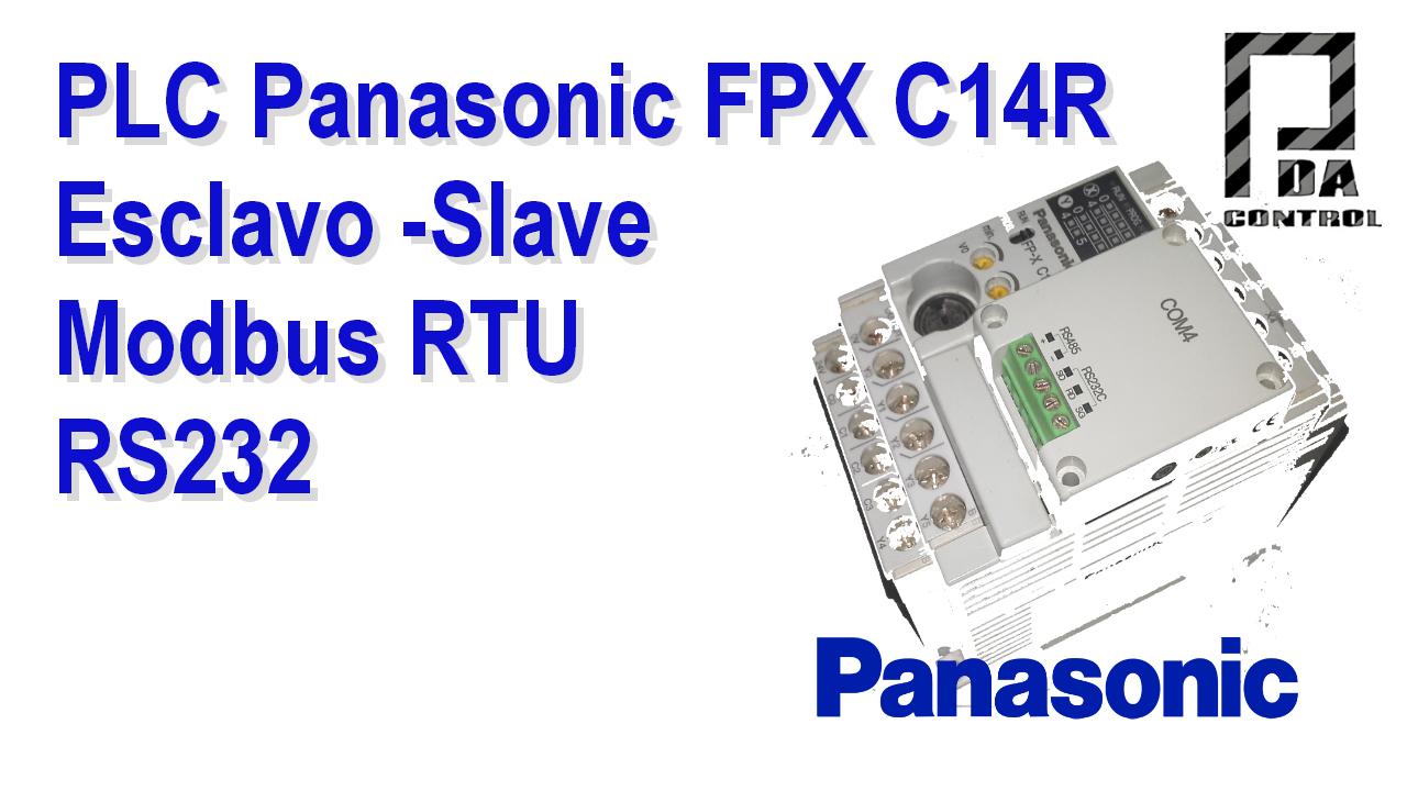 Industrial – PLC FPX C14R Panasonic – Esclavo Modbus RTU RS232
