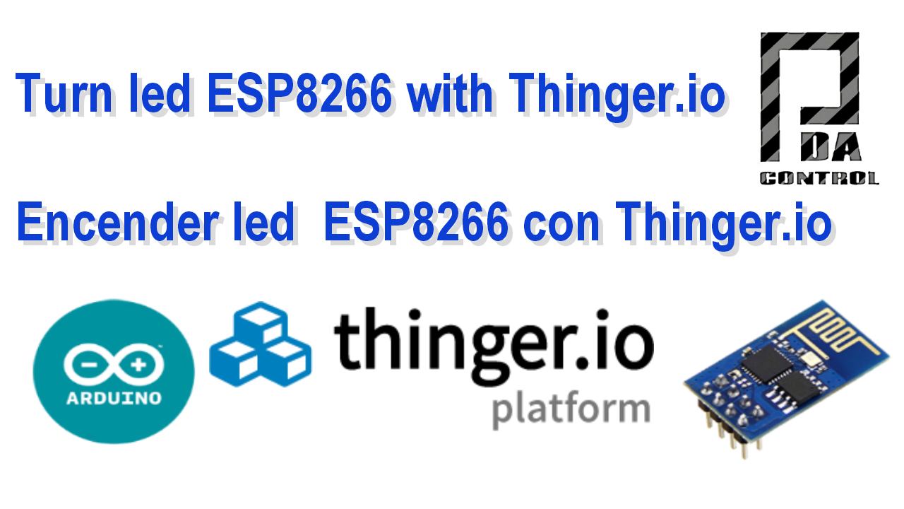 Encender led ESP8266 01 con Thinger.io