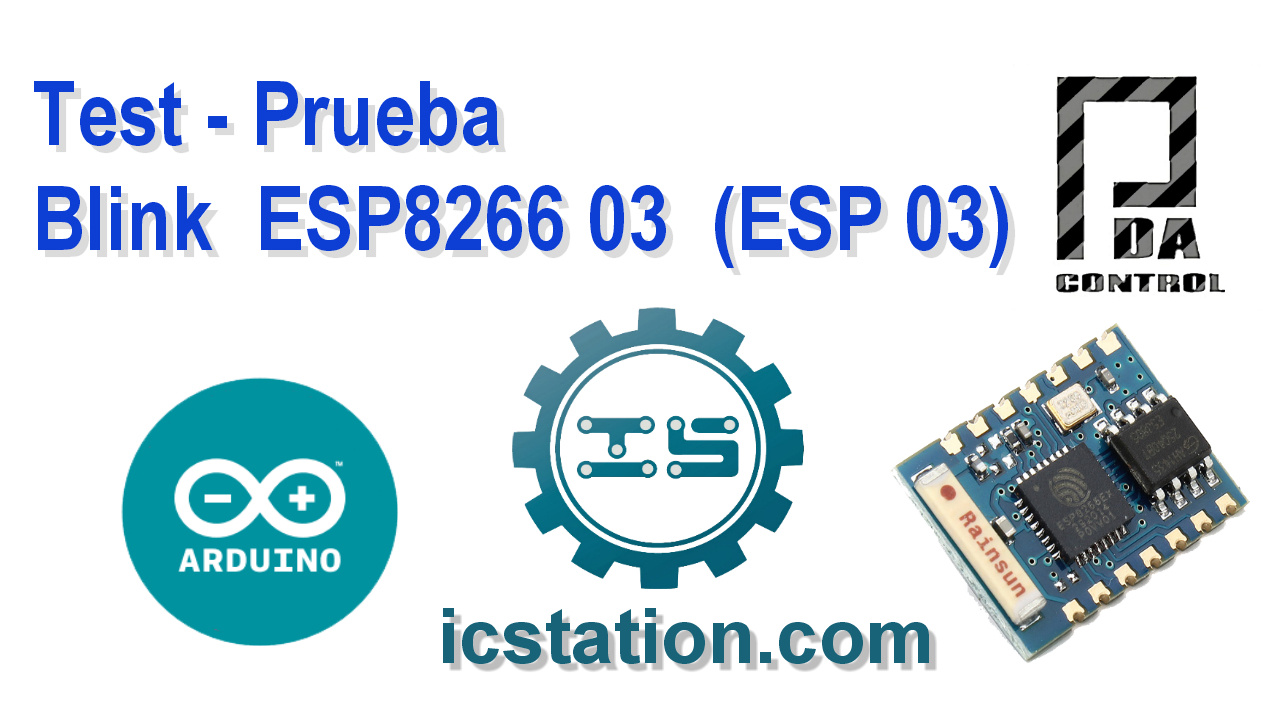 Blink ESP8266 03 ESP 03 en  Arduino IDE