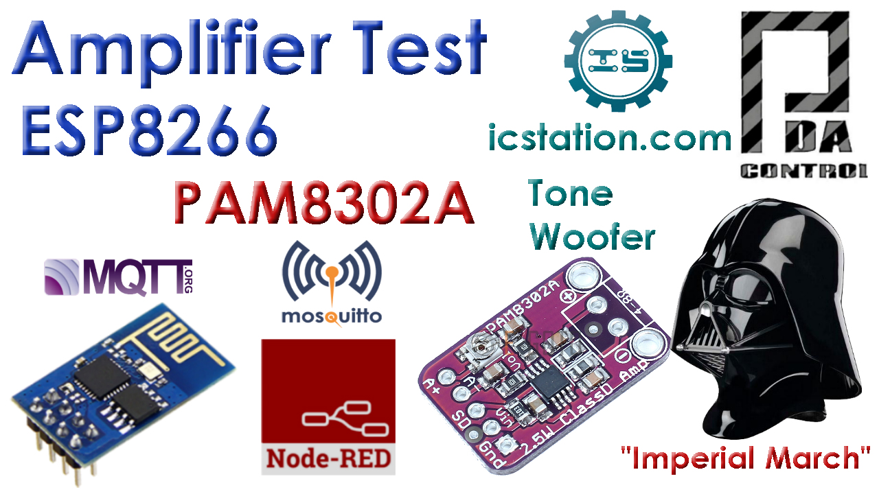 Tutorial Amplificador Audio PAM8302A ESP8266  Node-RED MQTT