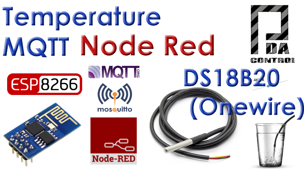 Tutorial ESP8266 DS18B20 Temperatura Node-RED MQTT (Mosquitto) IoT