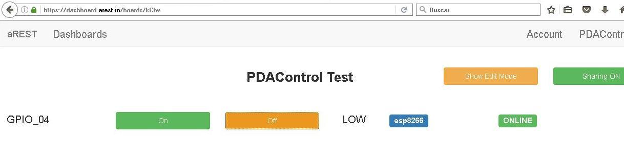 ESP8266 PDAControl pdacontroles.com aREST