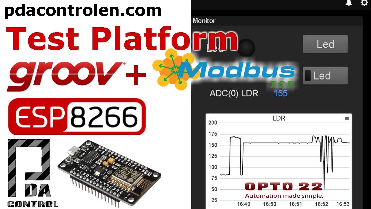 Pruebas Plataforma Industrial Groov y ESP8266 NodeMCU