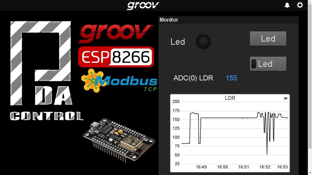 ESP8266 PDAControl pdacontroles.com groov