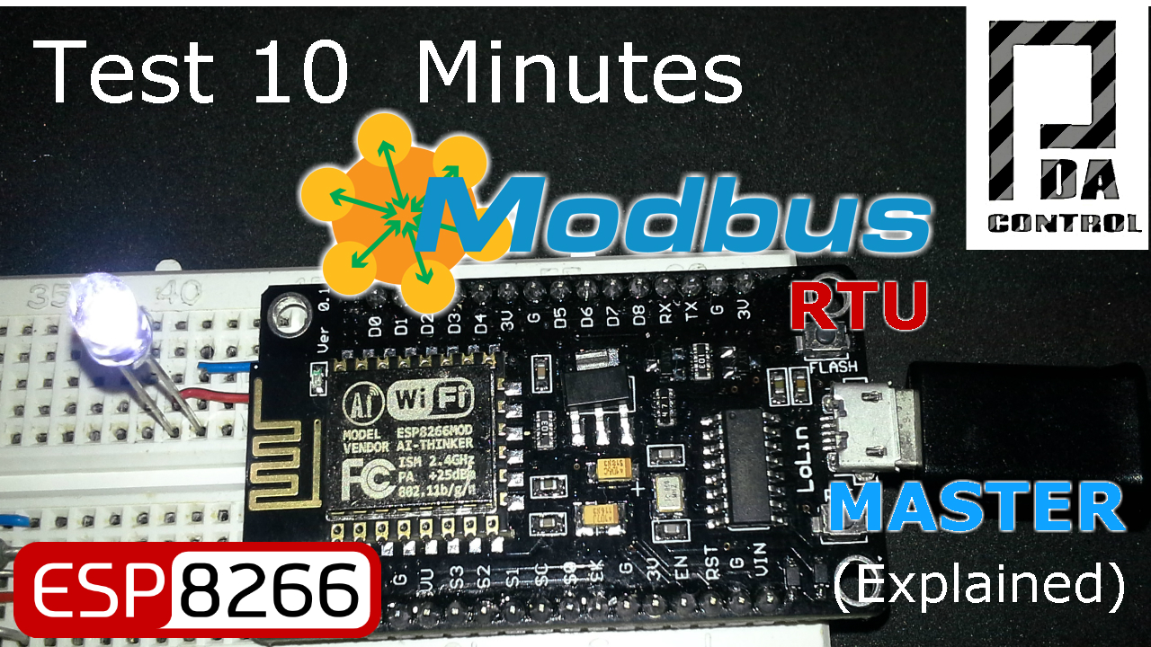 Tutorial ESP8266 12E Modbus RTU Maestro (Mejorado)
