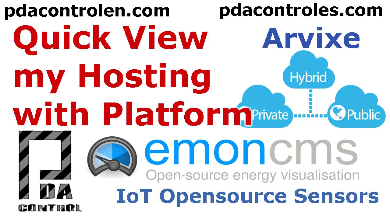 Vista Rapida a Plataforma Emoncms OpenEnergyMonitor en Hosting