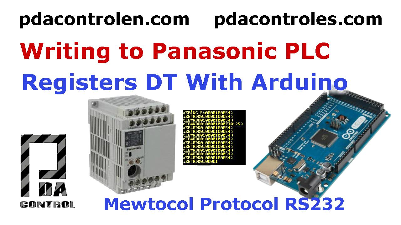 Arduino escribiendo Protocolo Mewtocol de PLC'S Panasonic