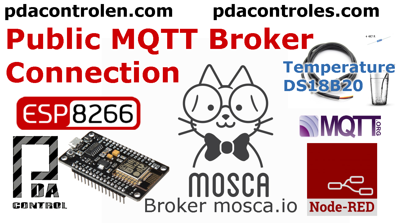 ESP8266 & Broker Publico MQTT mosca.io & Node-RED