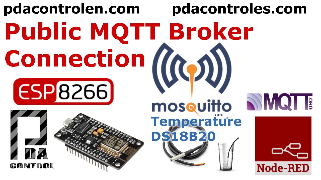 ESP8266 & Broker Publico MQTT Mosquitto & Node-RED