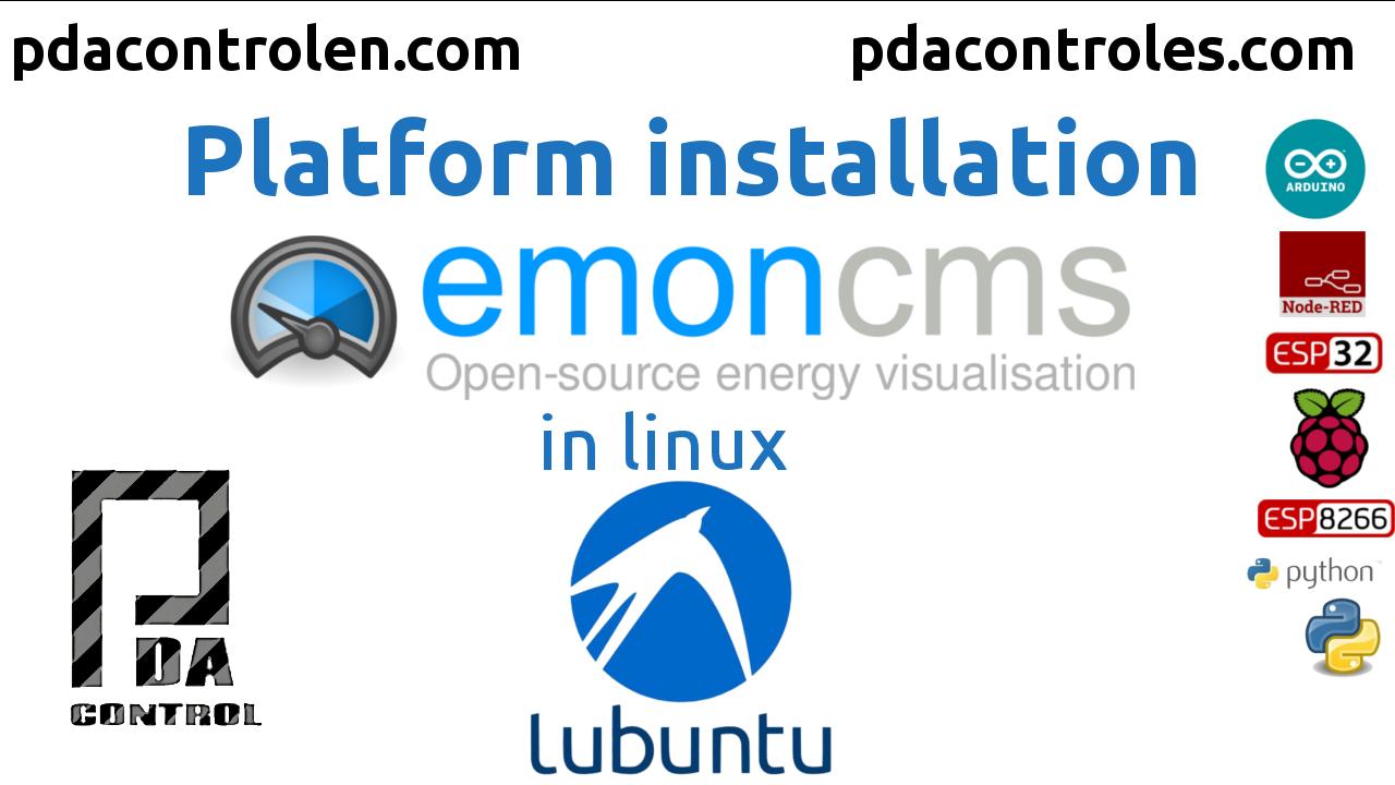 Instalacion Plataforma IoT Emoncms en lubuntu Linux