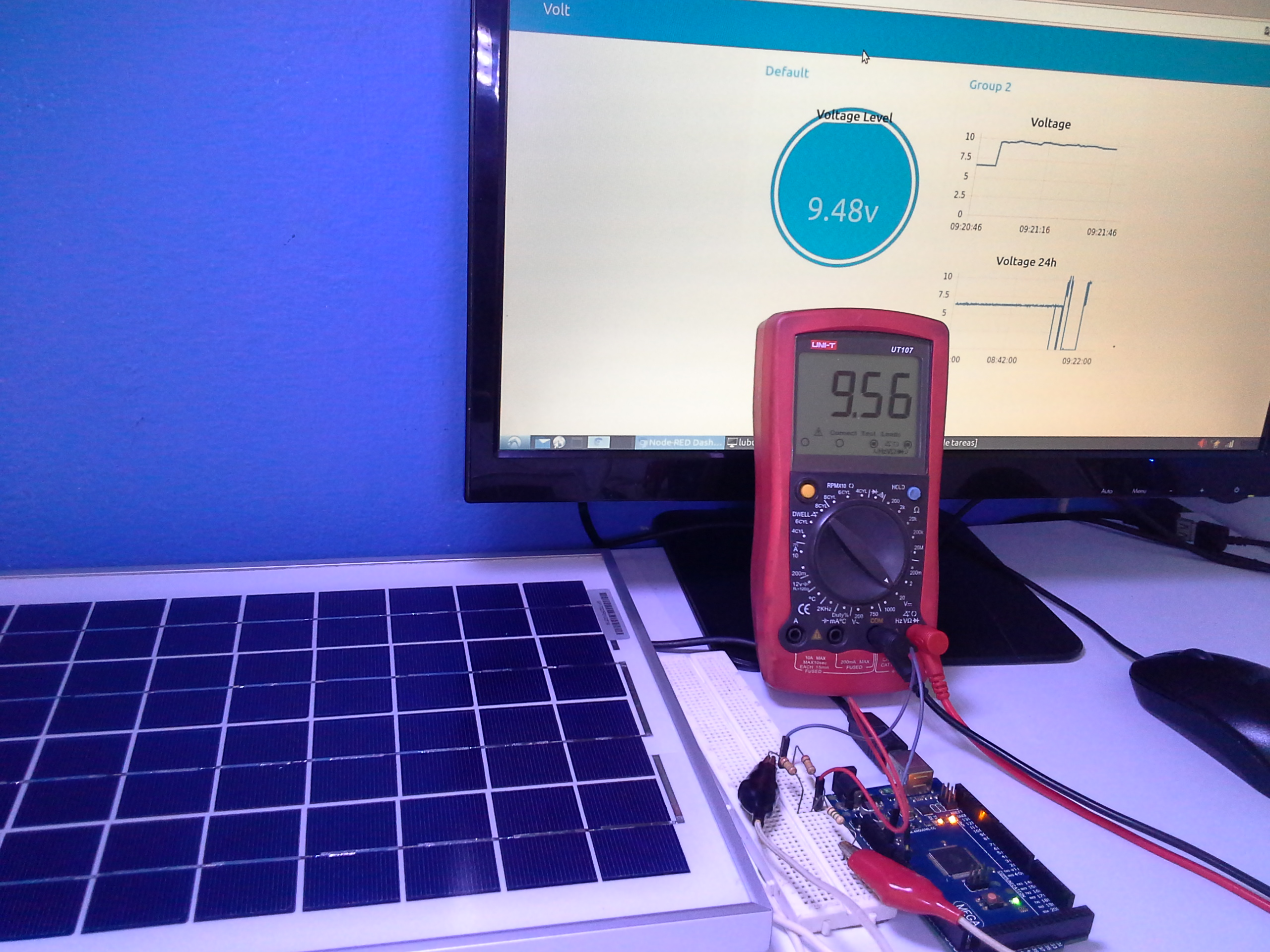 Review Solar Panel 10W with Arduino and Node-RED - PDAControl