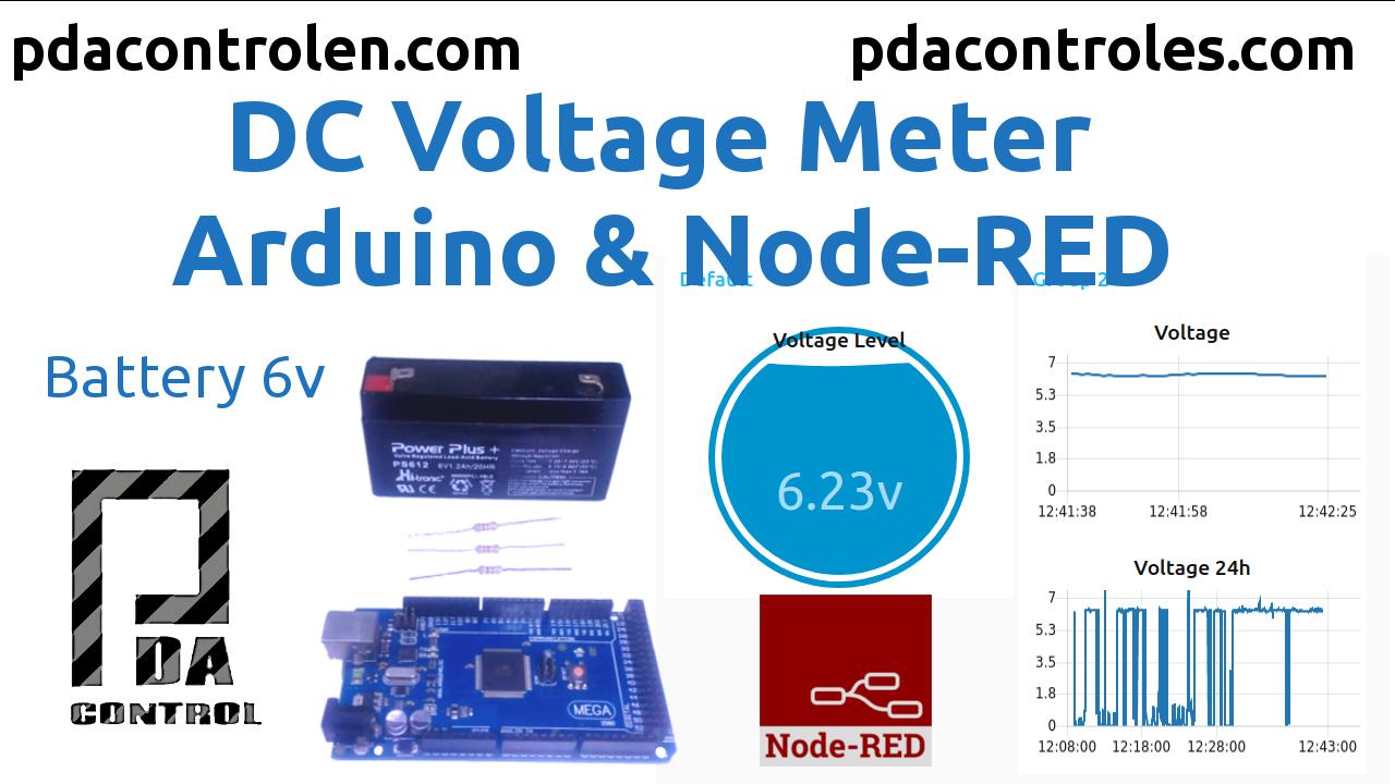 Midiendo Voltaje DC con Arduino y Node-RED