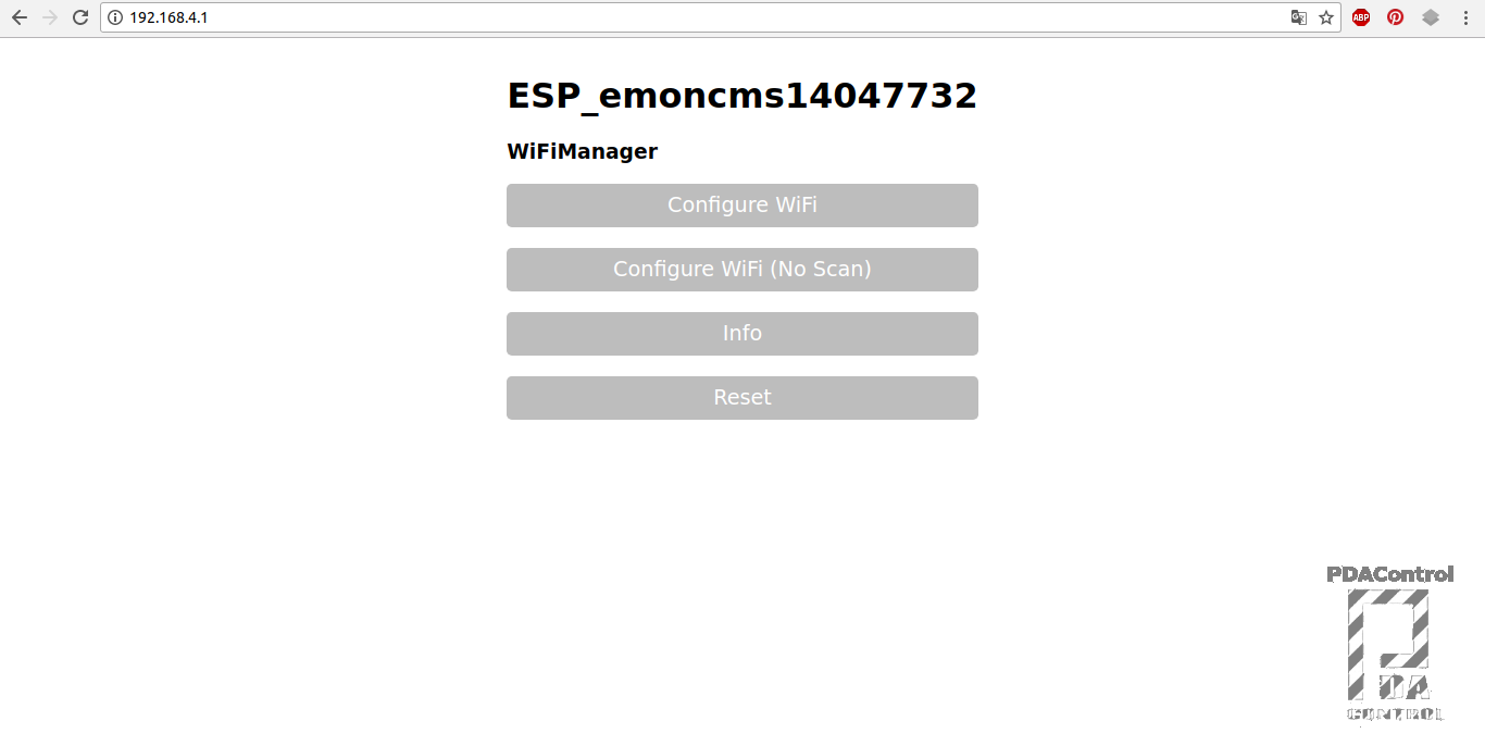 WifiManager + Emoncms (OEM) with ESP8266 (Temperature) #1 - PDAControl
