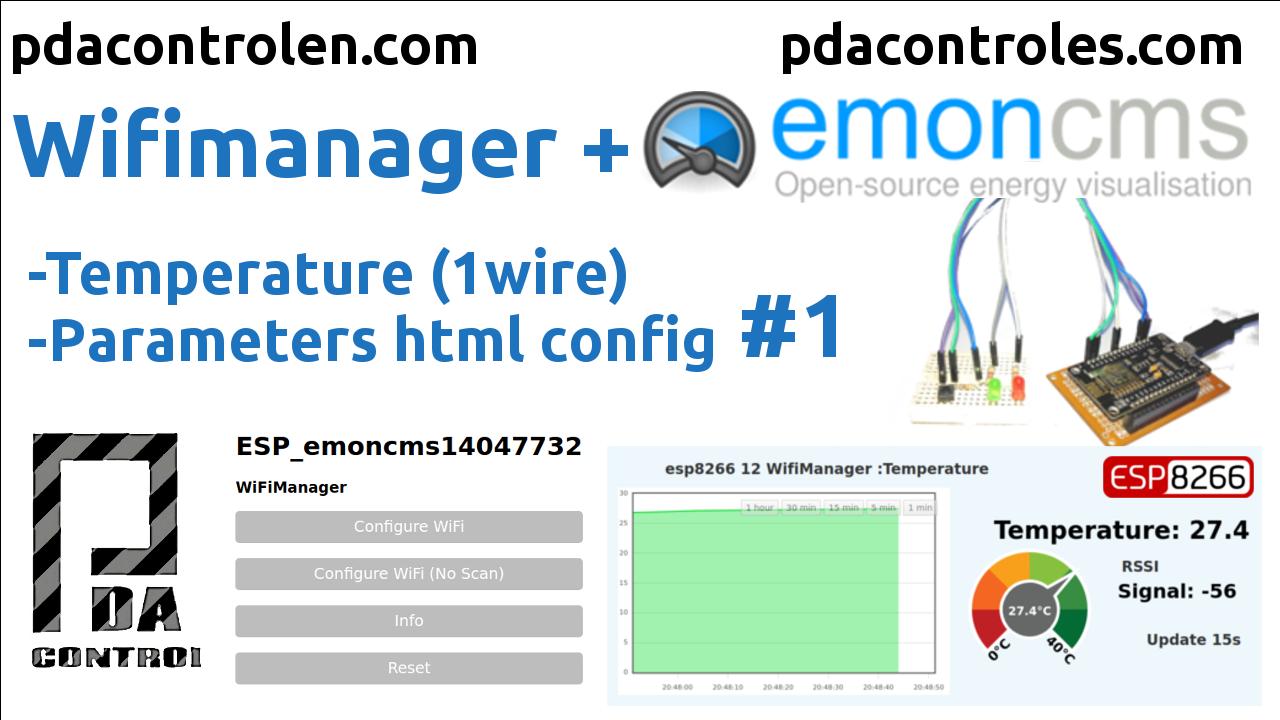 WifiManager + Emoncms (OEM) con ESP8266 (Temperatura) #1