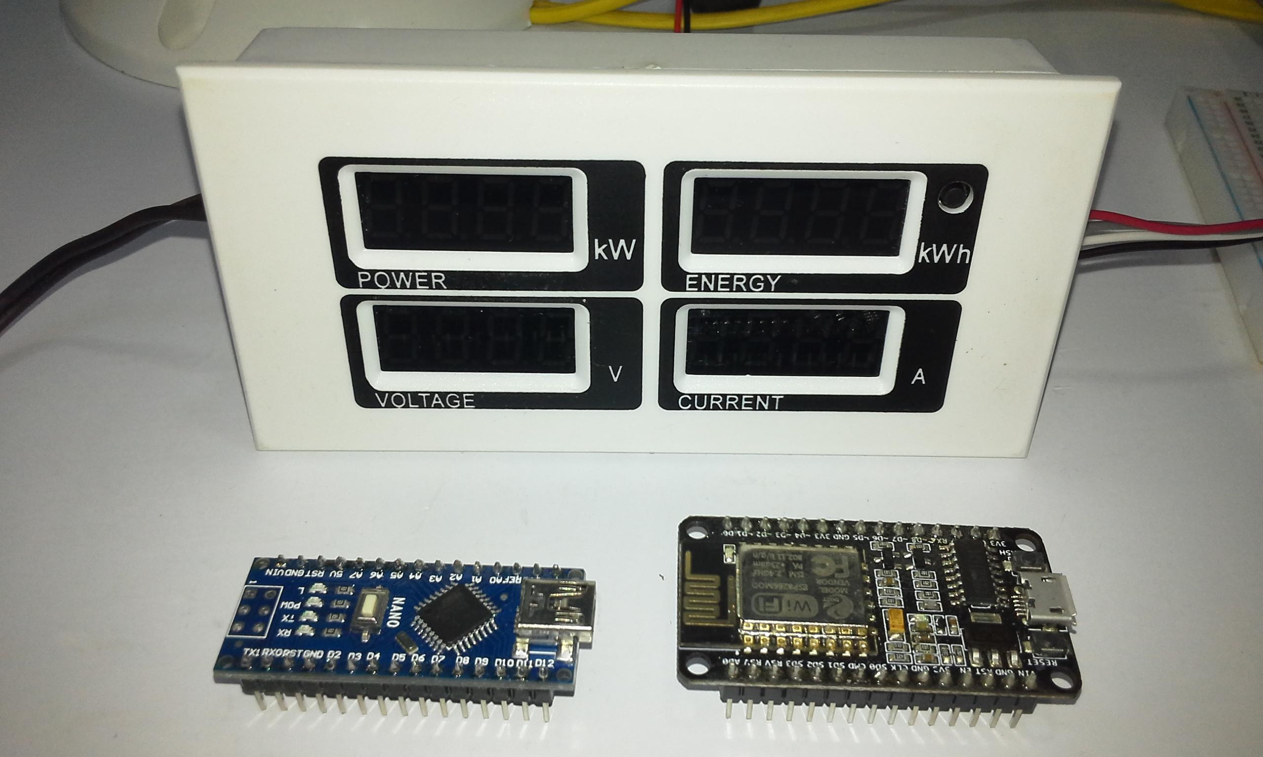 Electricity consumption meter Peacefair PZEM 004 + ESP8266 & Arduino