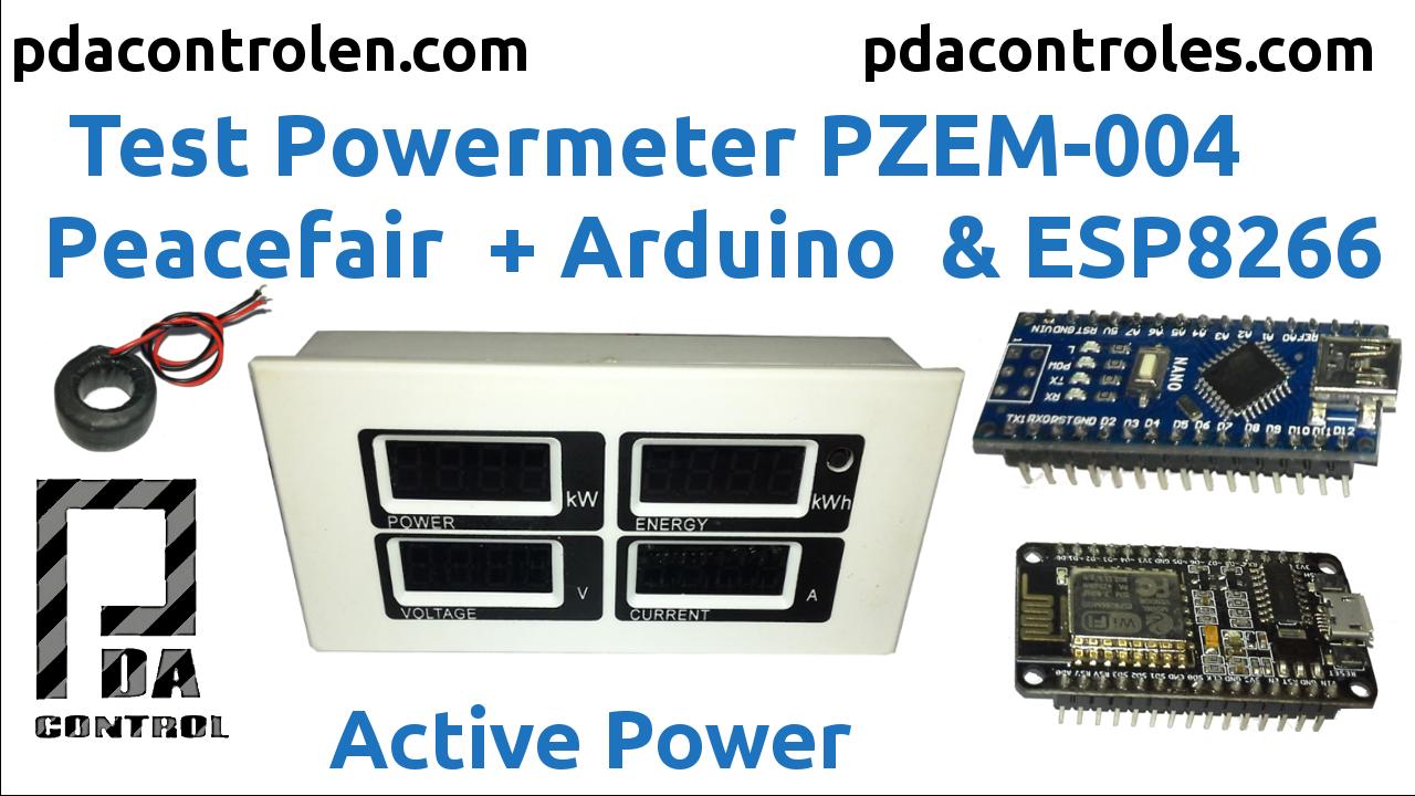 Medidor de consumo electrico Peacefair PZEM 004 + ESP8266 & Arduino Nano
