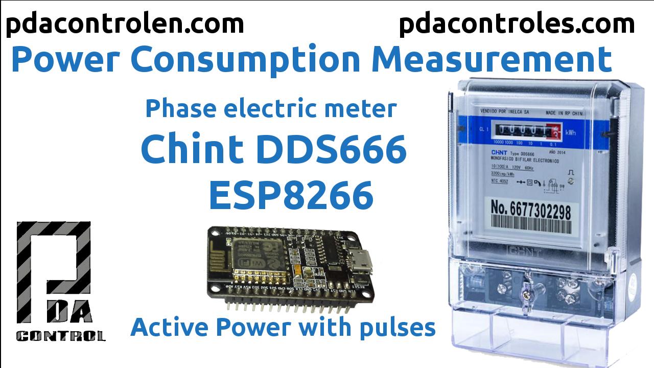 Consumo Electrico con Medidor CHINT (pulsos) + ESP8266 & Matrix led MAX7912