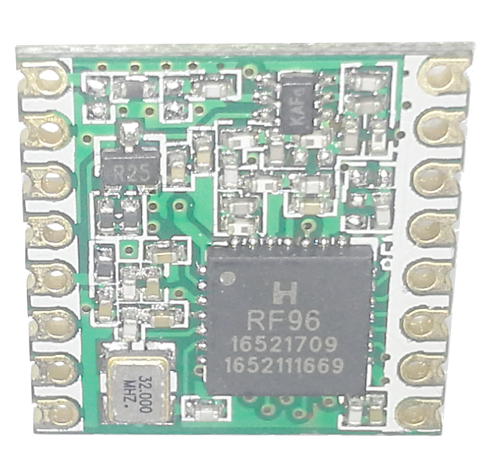RF96 / RFM95 de Hoperf Vista Frontal 915.0Mhz PDAControl