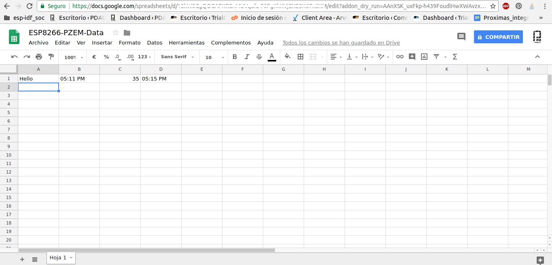 Update HTTPS Redirect Version 2 0 ESP8266 & Google Spreadsheets