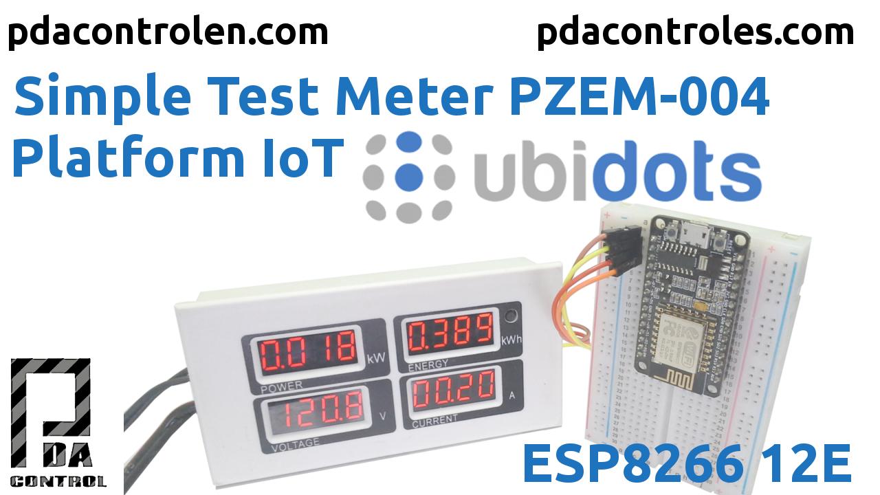 Medidor PZEM-004 + ESP8266 & Plataforma IoT Ubidots