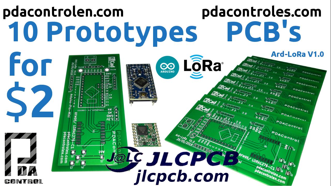 10 PCB Profesionales por $ 2 con JLCPCB – Prototipos Ard-LoRa