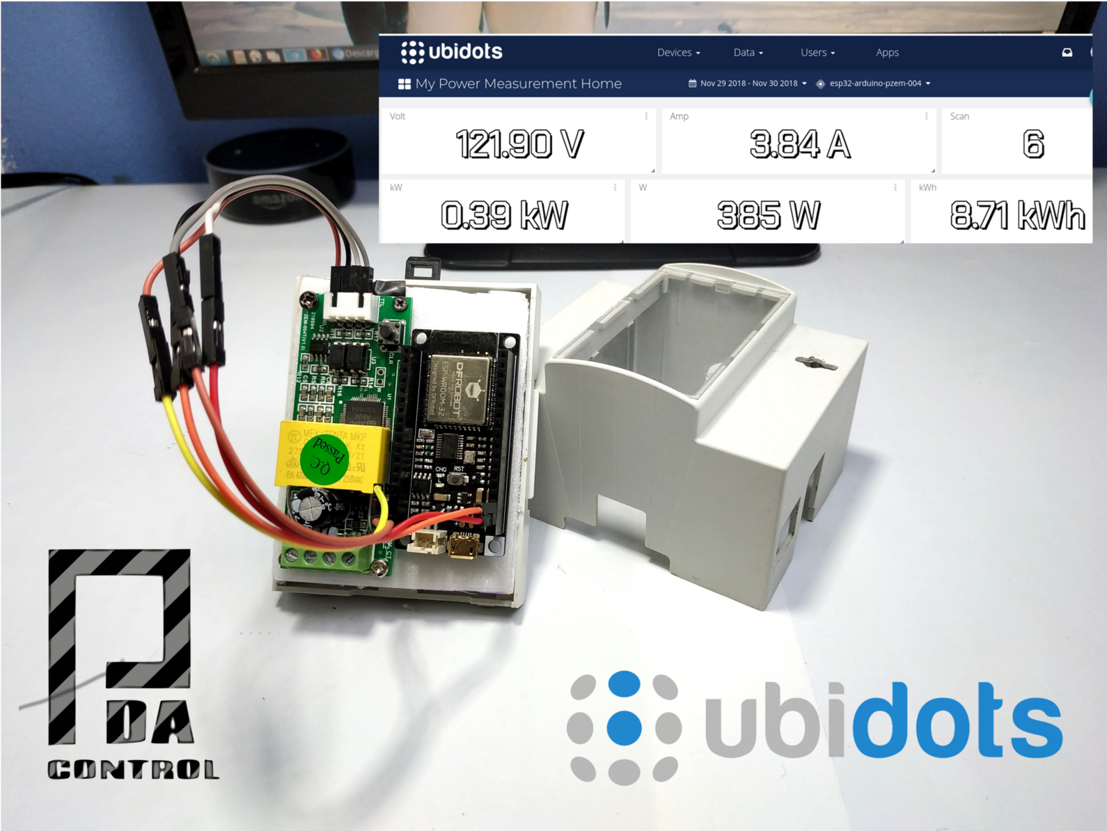 Measurement Electrical Consumption With Ubidots Industrial Esp32 Measurements In Electric Circuit Recommendation Below You Can See Data Real Time