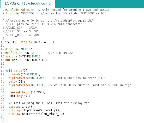 Review Module Wemos TTGO ESP32 + OLED V2 0 + DHT11 - PDAControl