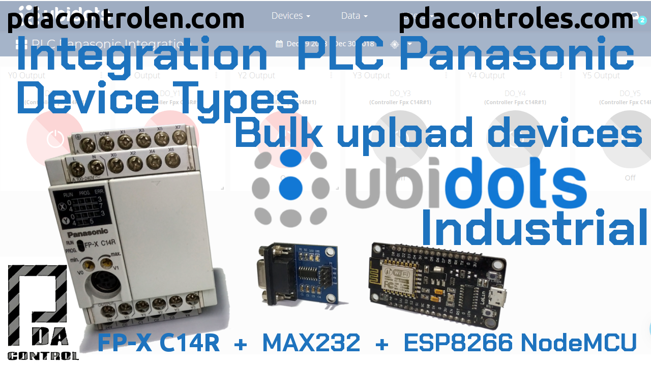 Integracion  PLC Panasonic Device Types – Bulk upload devices con Ubidots