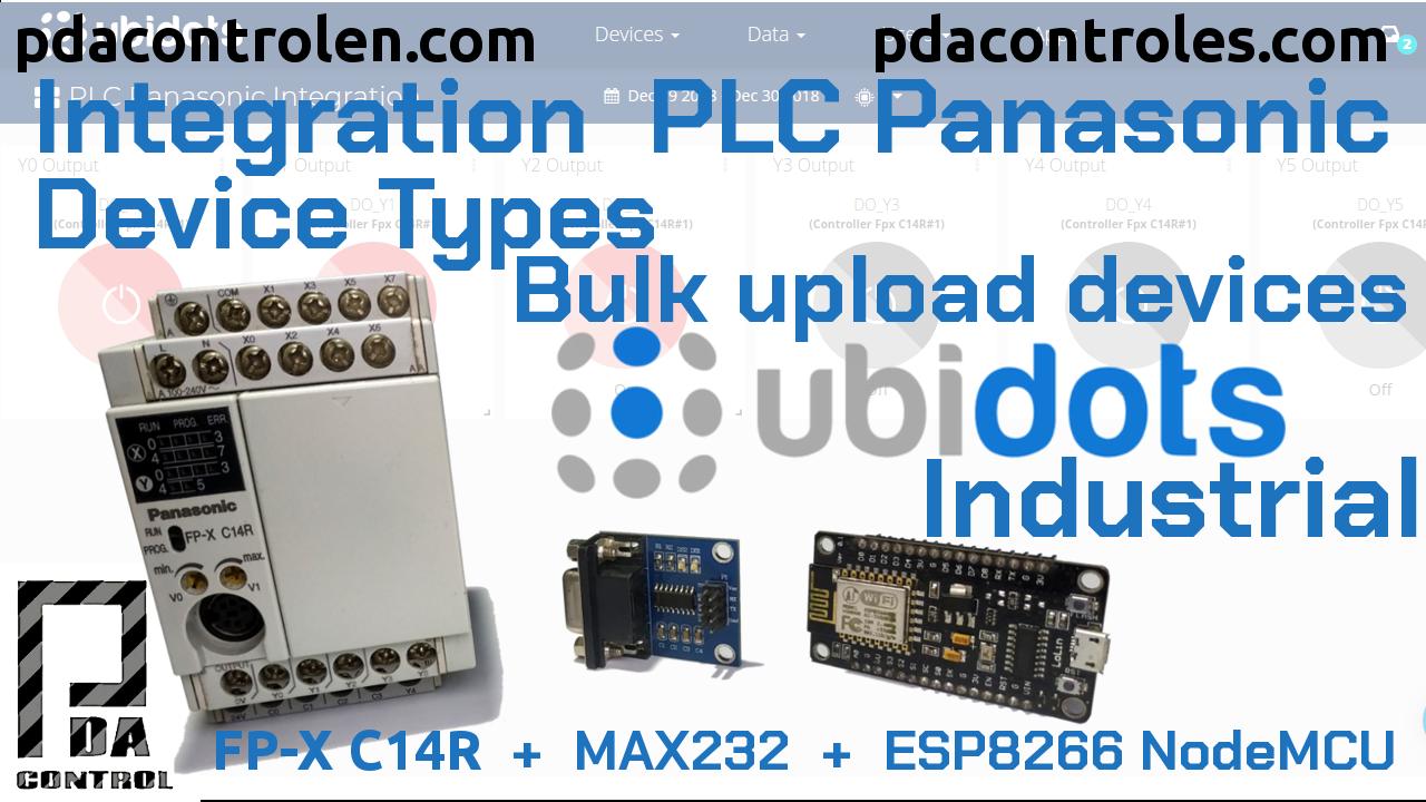 Integracion  PLC Panasonic Device Types – Bulk upload devices con Ubidots