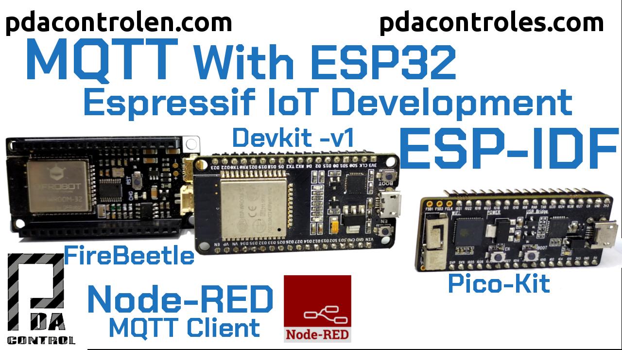 MQTT en ESP32 con ESP-IDF  – ESP-MQTT & Node-RED