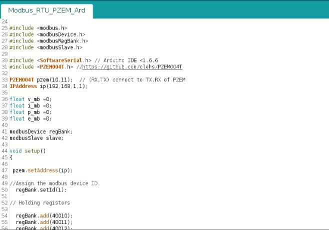 Meter PZEM-004 + Arduino Nano Modbus RTU (RS232) & Platform IoT Node