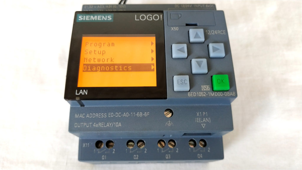 Connection LOGO! 0BA8 Siemens Ethernet with Node-RED S7COMM