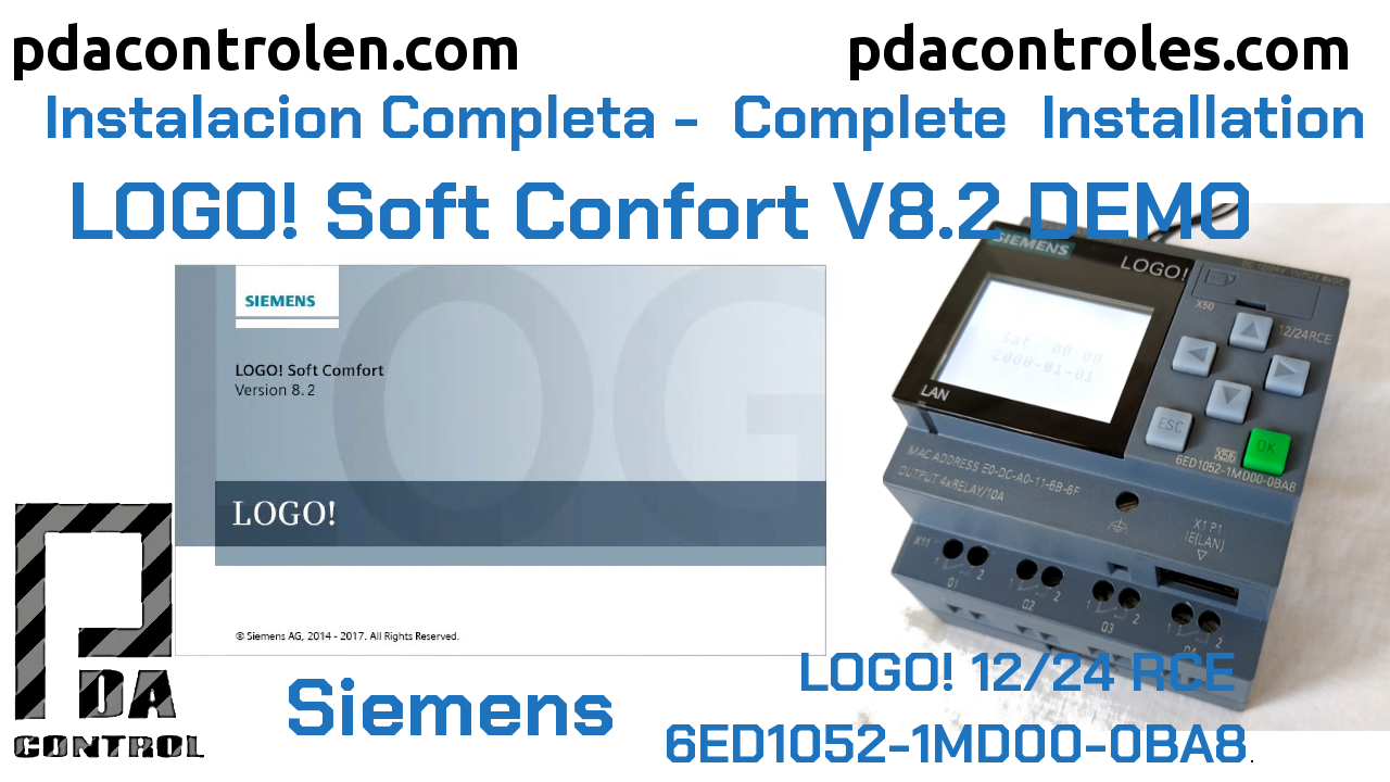 Descarga e Instalación Software LOGO! Soft Confort V8.2 DEMO de Siemens
