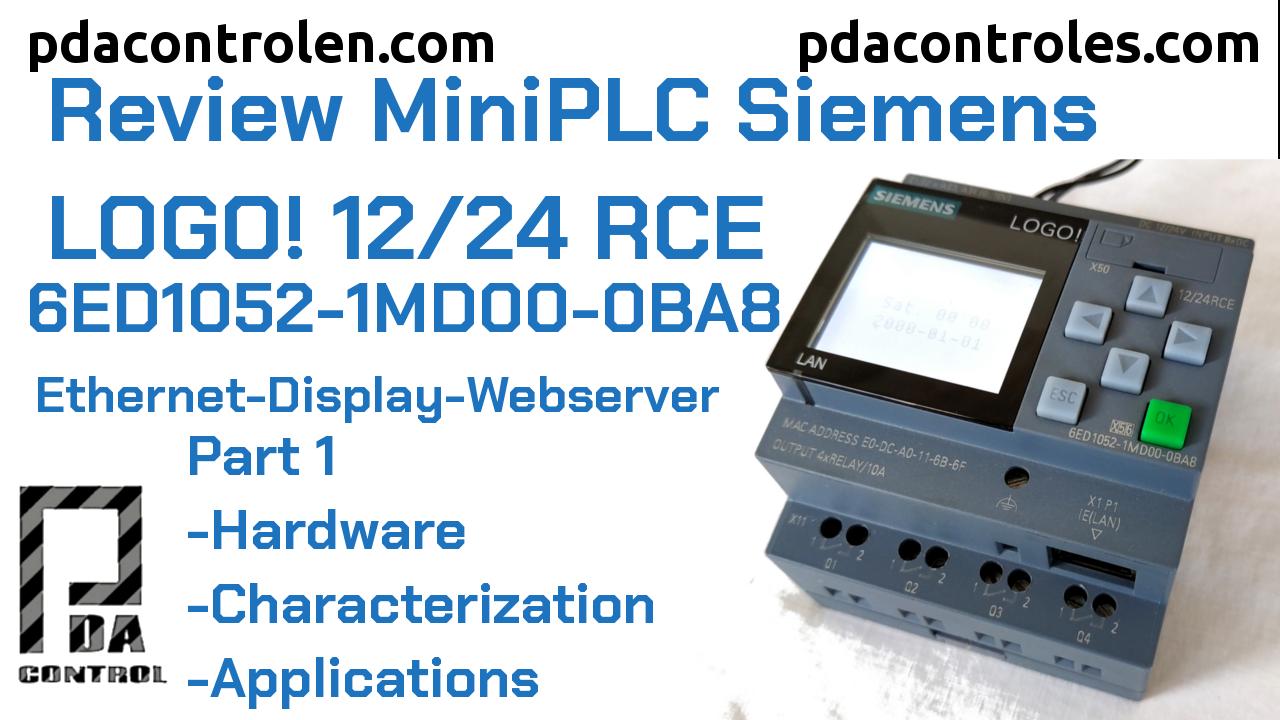Revisión PLC LOGO! 8 12/24 RCE – (0BA8) Ethernet de Siemens