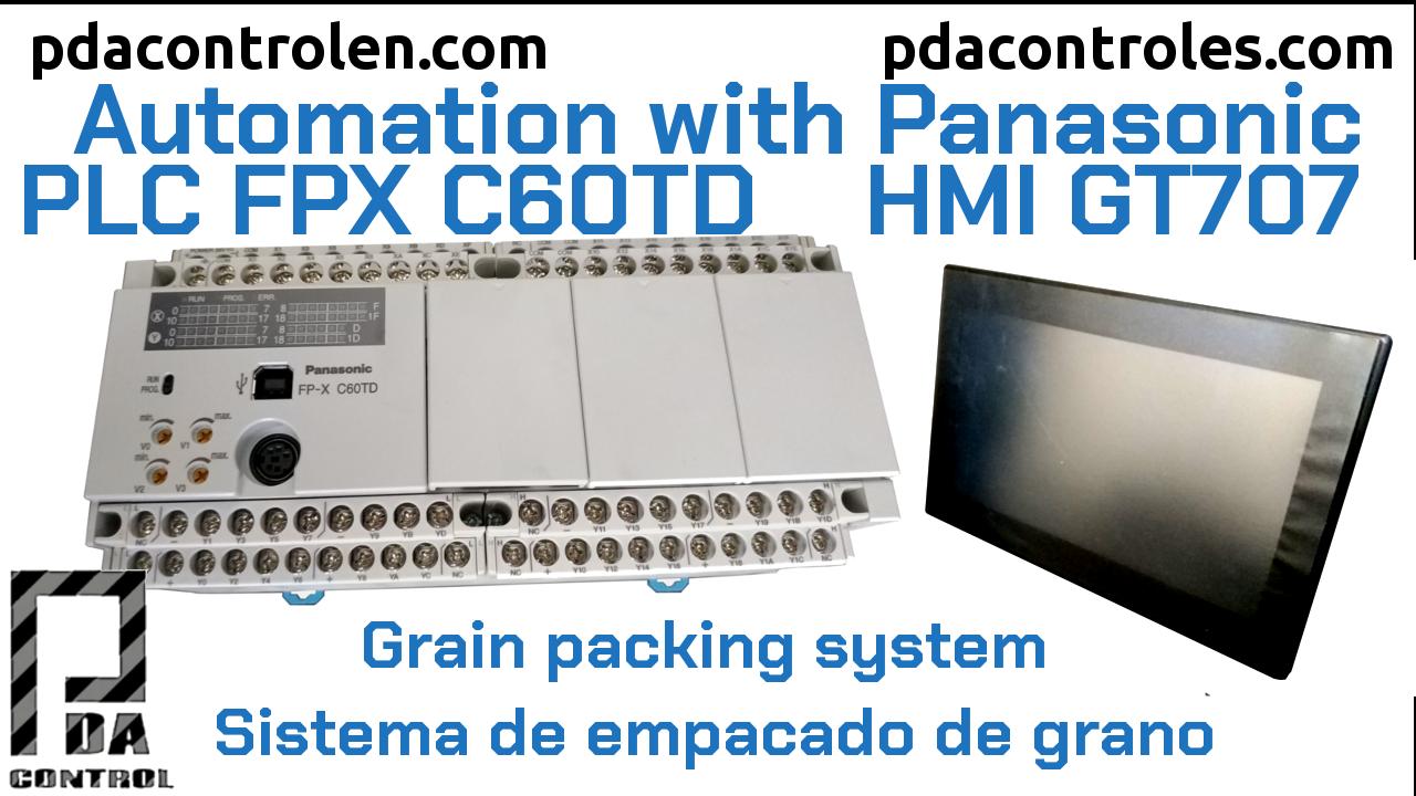 Automatización Industrial con Panasonic PLC FP-X C60TD & HMI GT707