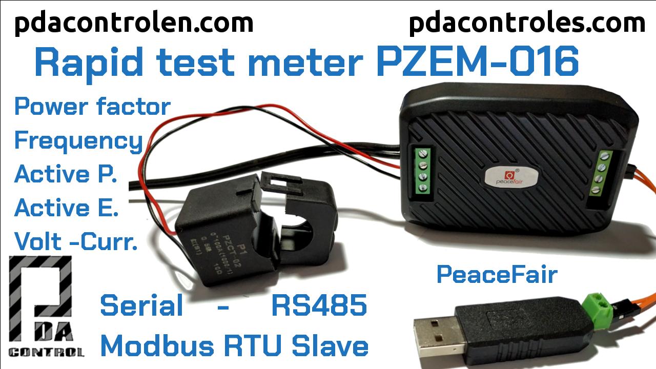 Revisión Inicial Medidor PZEM-016 Modbus RTU RS485 de PeaceFair