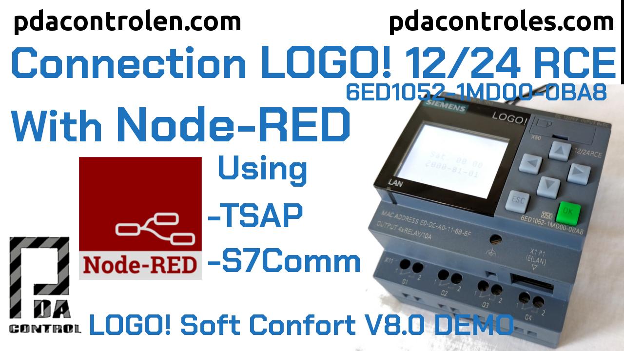 Conexion LOGO! 0BA8 Ethernet Siemens con Node-RED Protocolo S7COMM