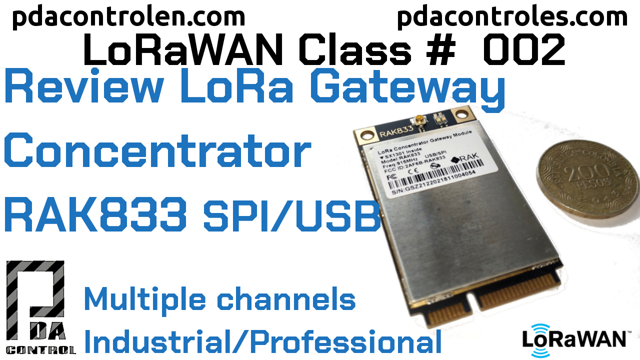Revisión Gateway Concentrador mPCIe RAK833 SPI/USB (Multicanal) LoRaWAN # 2