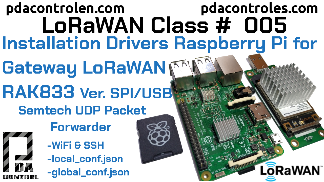Instalar drivers y (UDP Packet Forwarder)  Raspberry Pi con Gateway RAK833 Version USB/SPI LoRaWAN #5