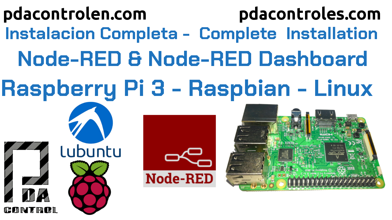 Instalación Fácil de Node-RED en Raspbian y SO Linux en General