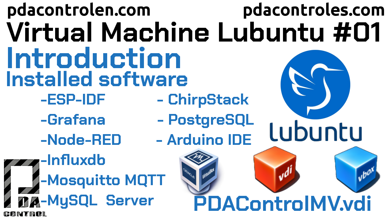 Descarga Maquina Virtual Lubuntu (PDAControlMV) IoT en VirtualBox #1