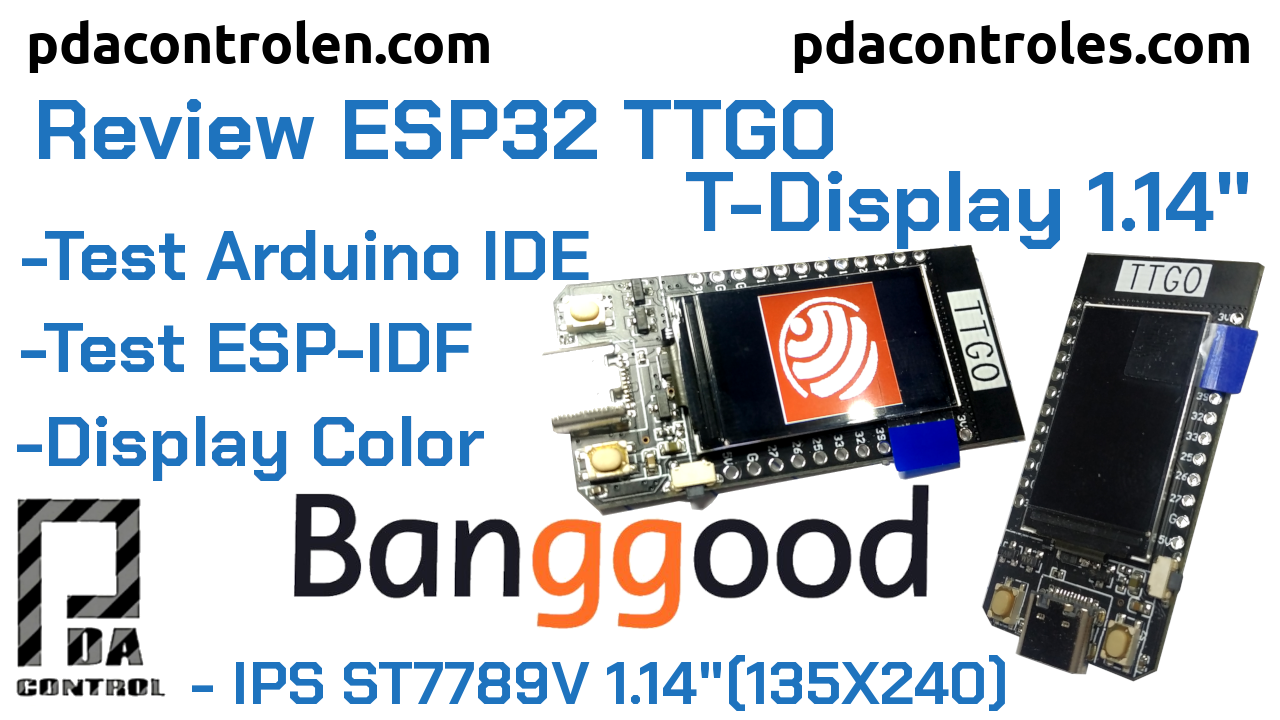 Revisión Modulo ESP32 TTGO  T-Display 1.14″